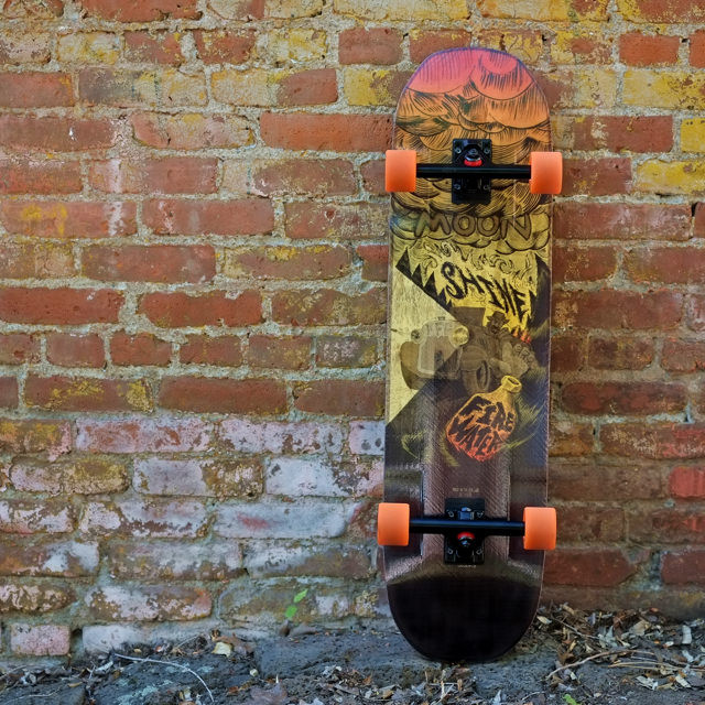 Moonshine Firewater 36 Quot Longboard Complete The Longboard