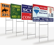Multi-Color Yard Signs