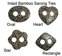 Inlaid Bamboo Sarong Ties