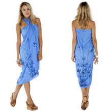Bamboo Sarong in Light Blue