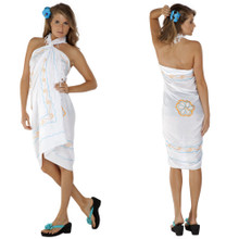 "Sarong w/ Triple Embroidery ""White"""