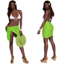 Half Sarong / Mini Sarong Pareo in Lime Green