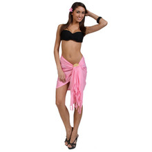 Solid Colored Half Sarong in Pink
