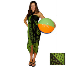 "Hibiscus Sarong ""Light Greenish Yellow"" - HI-22"