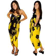 Hibiscus Sarong in Yellow / Black