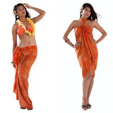 Leaf Sarong in Orange