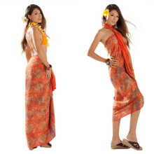 Batik Paisley Sarong in Orange