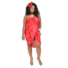 Red Smoked Plus Size Sarong