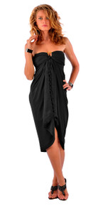 Solid Colored Sarong in Black