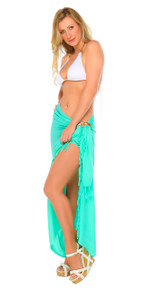 Solid Mint-Colored Sarong