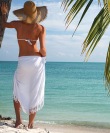 Solid Colored White Sarong