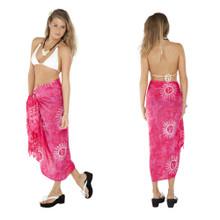 Batik Sun Celestial Sarong in Hot Pink