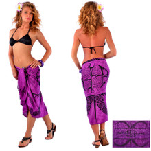 Tattoo Sarong in Royal Purple