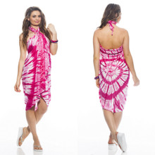 Pink Swirl Tie Dye Sarong