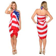 American Flag Sarong