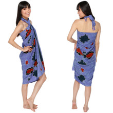 "Bats High-End Pertama Sarong ""Light Blue"""