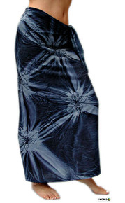 "Embroidered Tie Dye High-End Pertama Sarong ""Dark Blue"""