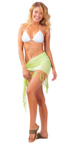 Sheer Sarong in Lime