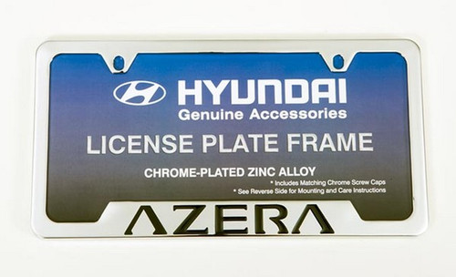 Hyundai Azera License Plate Frame Hyundai Shop