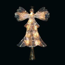 "10/L Metal and Reflector Angel Tree Topper with 24"" Lead Wire"