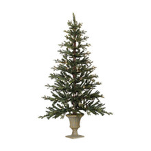 5' Pre-Lit Flat Tree in Urn Stand