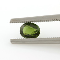 .61ct Loose Diopside Gemstone - Oval Green Genuine