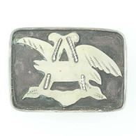 Native American Belt Buckle - Sterling Silver Custom Anheuser-Busch Beer Design