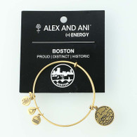 "New ALEX AND ANI Boston Bangle Charm Bracelet Adjustable 7"" Souvenir"