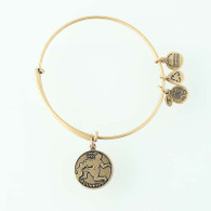 New ALEX AND ANI Aquarius Zodiac Charm Bracelet Adjustable Bangle Retired