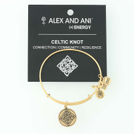 New ALEX AND ANI Celtic Knot Charm Bracelet Adjustable Bangle Tags & Card