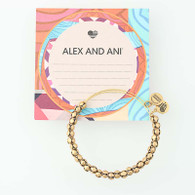 New ALEX AND ANI Bangle Bracelet Rafaelian Rose Gold Beads Adjustable Retired