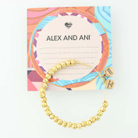 New ALEX AND ANI Bangle Bracelet Rafaelian Yellow Gold Beads Adjustable Retired