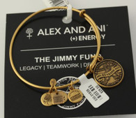 NEW Alex and Ani Energy Bangle Wrap Charm Bracelet - Boston Red Sox Jimmy Fund