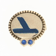 Eastern Airlines Company Service Pin - 10k Gold 10 Year 2 Sapphires Aviation