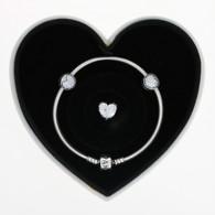 New Authentic Pandora Sparkle of Love Gift Set Charm Bracelet USB79119 CZ Hearts