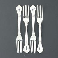 "Gorham Chantilly Fork 1895 1950 Sterling Silver 7"" Flatware Silverware Set of 4"