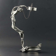 Figural Floral Bottle Holder Nude Sculpture 95% Silverplated Decorative Barware