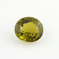 4.30ct Loose Tourmaline Gemstone - Genuine Green/Yellow Oval