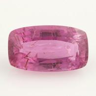 8.94ct Loose Tourmaline Gemstone - Pink Rectangular Moderate Inclusions