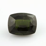 9.14ct Loose Diopside Gemstone - Dark Green 13.75mm x 10.79mm