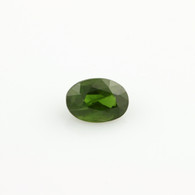 0.65ctw Loose Diopside Gemstone - Oval Green Faceted Genuine 6.40mm x 4.54mm