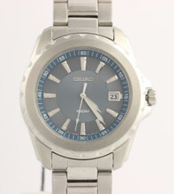 NEW Seiko SGEE71 Sport Solid Men's Watch - Stainless Steel w/ Box & Papers