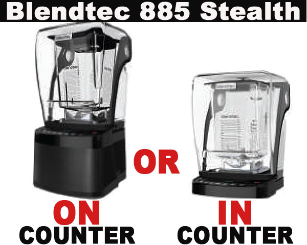 885 Stealth Available as on Counter or in Counter