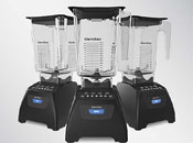 Blendtec Classic Series 575 Blender with WildSide Jar - Shown in Black finish.