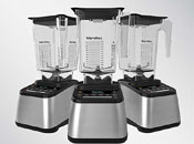 Designer Series Blendtec 725 in Stainless Steel with Black Trim and WilSide+ Jar