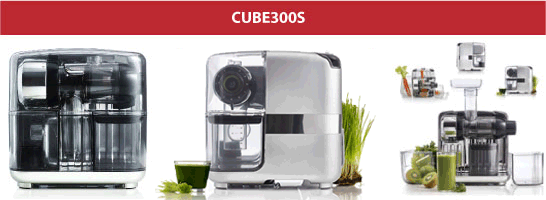New Omega Cube 300s Juicer System. Expected to be available soon for sale in Canada