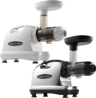 Omega Masticating Juicer Models 8004 (white) and 8006 (chrome)