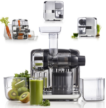 omega juice cube and nutrition system latest cold pressed slow juicing technology in horizontal category - Omega Juicers