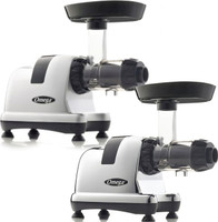 Omega Nutrition System Masticating Juicers: Model 8008 (Chrome Finish) AND Model 8007S (Silver Finish)