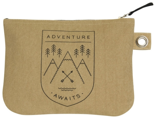 Adventure Awaits Zip Pouch - Large | Mama Bath + Body